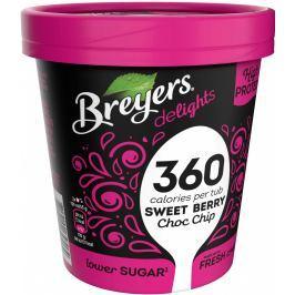Breyers Delights Sweet Berry Choc Chip proteinová zmrzlina v kelímku