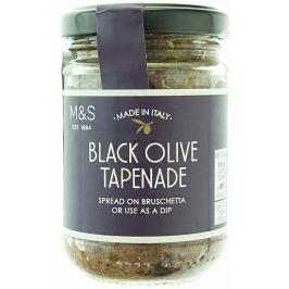 Marks & Spencer Krájené černé olivy s česnekem, kapary a pastou z ančoviček v extra panenském olivovém oleji