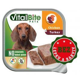 VitalBite vanička masové kousky v paté s kuřecím a krůtím