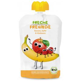 Freche Freunde BIO Ovocná kapsička banán, jablko a malina
