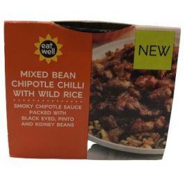 Marks & Spencer Mixed Bean Chipotle Chilli With Wild rice fazole v rajčatové omáčce s uzenou paprikou a s rýží