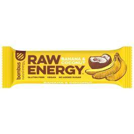 Bombus natural energy banán & kokos RAW tyčinka