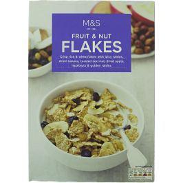 Marks & Spencer Rýžovo-pšeničné lupínky se sušeným ovocem, opečeným kokosem a lískovými ořechy
