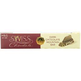 Marks & Spencer Švýcarská hořká čokoláda s medovo-mandlovým nugátem