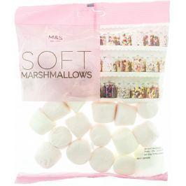 Marks & Spencer Pěnové bonbony marshmallows s příchutí maliny a vanilky