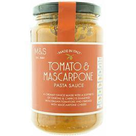 Marks & Spencer Rajčatová omáčka na těstoviny se sýrem Mascarpone a extra panenským olivovým olejem