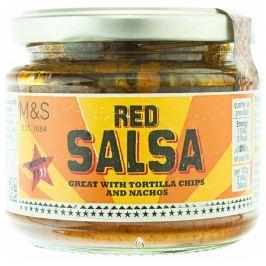 Marks & Spencer Salsa z rajčat a cibule s limetkovou šťávou a chilli papričkami jalapeño