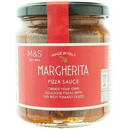 Marks & Spencer Rajčatová omáčka na pizzu Margherita s bazalkou a italským extra panenským olivovým olejem