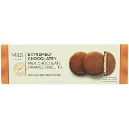Marks & Spencer Sušenky s pomerančovou příchutí v mléčné čokoládě