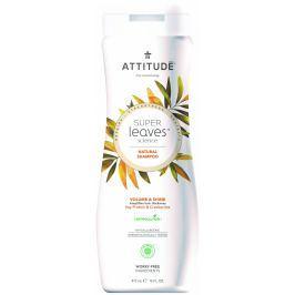 Attitude BIO Super leaves přírodní šampón s detoxikačním účinkem - lesk a objem pro jemné vlasy
