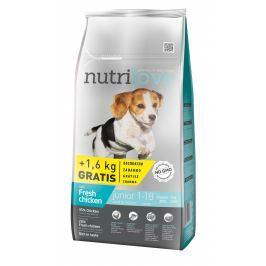 Nutrilove dog dry JUNIOR S&M  fresh chicken granule pro štěňata malých a středních plemen 8+1,6kg ZDARMA