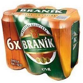 Braník světlé výčepní pivo pack 6x500ml plech