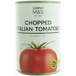 Marks & Spencer Krájená italská rajčata v rajčatové šťávě Konzervované
