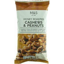 Marks & Spencer Směs pražených a solených jader mandlí, kešu, lískových, makadamových a pekanových ořechů