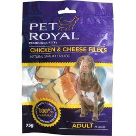 Pet Royal měkký pamlsek pro psa kuřecí a sýrové filetky