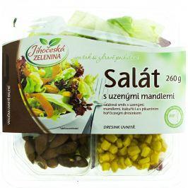 Jihočeská zelenina Směs salátů s uzenými mandlemi, kukuřicí a hořčicovým dresinkem
