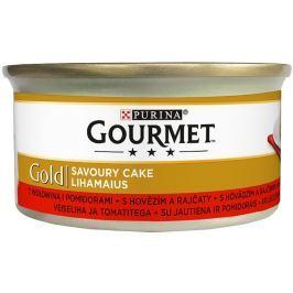 Gourmet Gold Savoury Cake s hovězím a rajčaty
