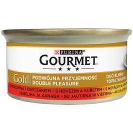 Gourmet Gold Double Pleasure s hovězím a kuřetem