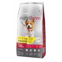 Nutrilove dog dry ADULT S fresh chicken granule pro dospělé psy malých plemen 8+1,6kg ZDARMA