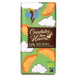Chocolates From Heaven BIO hořká čokoláda s pomerančem 72%