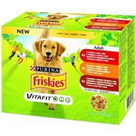 Friskies Adult pro psy výběr - hovězí, kuřecí a jehněčí v želé 12x100g,