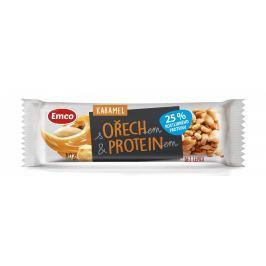 Emco Tyčinka s ořechem a proteinem - karamel
