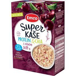Emco Super kaše Protein a chia s višněmi 3x55g,