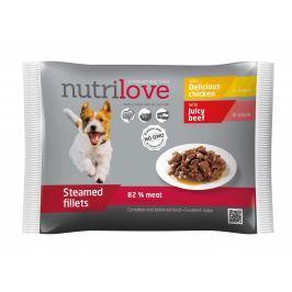 Nutrilove dog pouch, gravy CHICKEN+BEEF