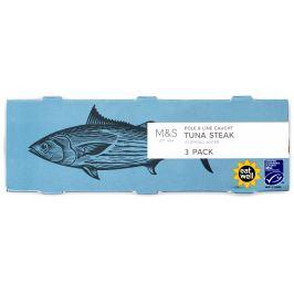 Marks & Spencer Steak z tuňáka v pramenité vodě - 3pack
