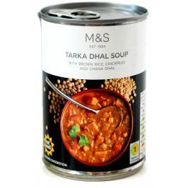Marks & Spencer Kořeněná zeleninová polévka Tarka Dahl Konzervované