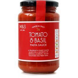 Marks & Spencer Rajčatová omáčka na těstoviny s italským extra panenským olivovým olejem (5%) a bazalkou