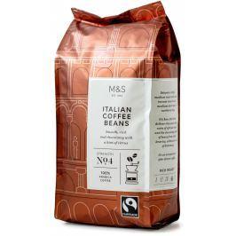 Marks & Spencer Středně pražená italská káva (100% Arabica) zrnková