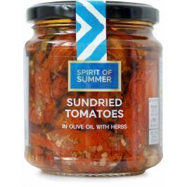 Marks & Spencer Sušená rajčata nakládaná v olivovém oleji (43%) s česnekem a bylinkami Konzervované