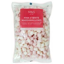Marks & Spencer Růžové a bílé bonbóny marshmallow