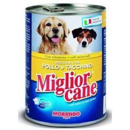 Migliorcane konzerva pro psy kuře a krůta