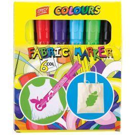 EASY Fabric Marker na textil - sada 6 barev, fibrová koncovka 2 mm