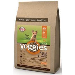 Yoggies Active kachna a jelen - minigranule s laktobacily pro malá plemena a štěňata
