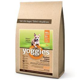 Yoggies Active kachna a zvěřina granule lisované za studena