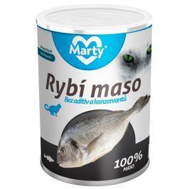 Marty konzerva pro kočky ze 100% masa - ryba