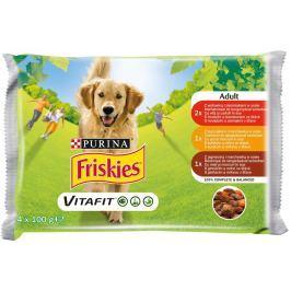 Friskies VitaFit výběr s hovězím, kuřetem a jehněčím ve šťávě 4x100g