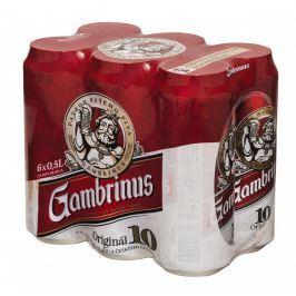 Gambrinus Originál 10 pivo výčepní světlé 6x500ml