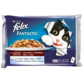 Felix Fantastic s králíkem a jehněčím v želé 4x100g
