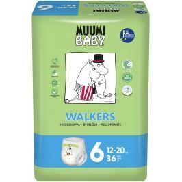 Muumi Baby Walkers plenkové kalhotky Junior 12-20kg (velikost 5-6) 36ks