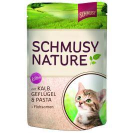 Finnern Schmusy Nature Kitten kapsička telecí+drůbež