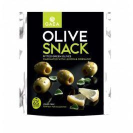 GAEA Olive snack – vypeckované zelené olivy s citrónem a oregánem
