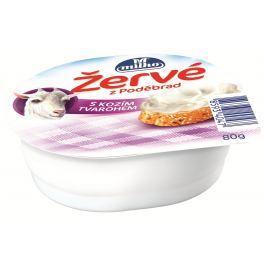 Milko žervé s kozím tvarohem