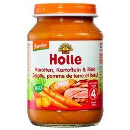Holle BIO Dětská přesnídávka mrkev, brambor a hovězí maso