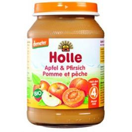 Holle Bio dětská přesnídávka broskev a jablko