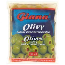 Giana Olivy zelené plněné červenou paprikou v sáčku