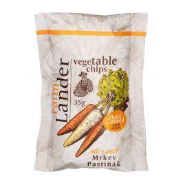 FarmLander chips mrkev + pastiňák se solí a pepřem
